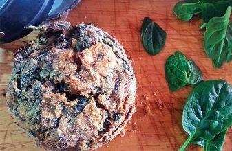 Spinach & mushroom pie-pik