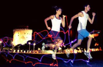 Νυχτερινό τρέξιμο στην πόλη της Θεσσαλονίκης
