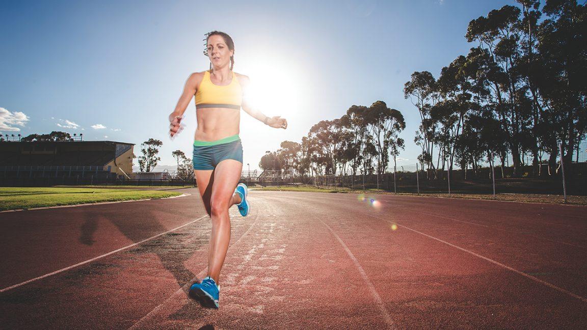 Διαλειμματική τρέξιμο σε στίβο