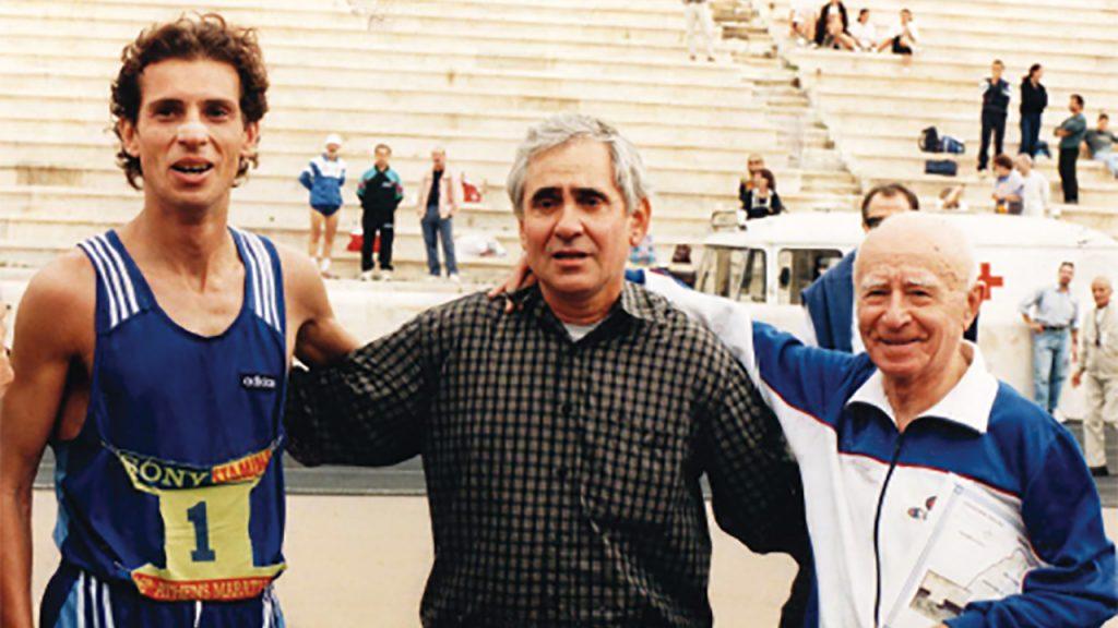 Ο Βαγγέλης Βαγιανός με τον Χρήστο Βαρτζάκη και τον Νίκο Πολιά