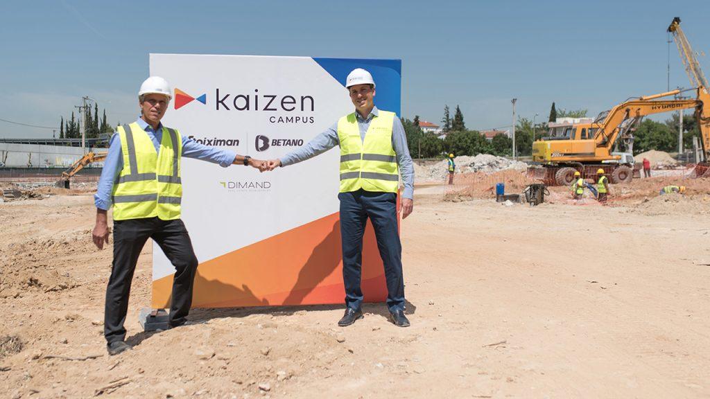 Ο Γιώργος Δασκαλάλης, CEO Kaizen Gaming, και ο Δημήτρης Ανδριόπουλος, CEO Dimand.