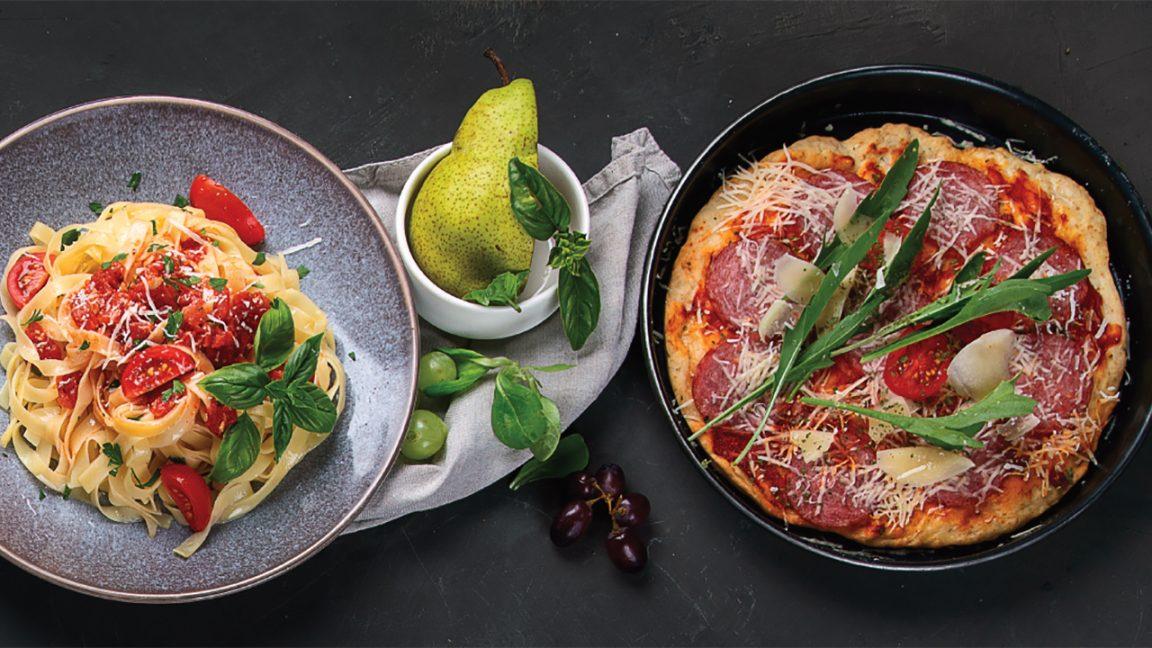 Ζυμαρικά και πίτσα για δρομείς