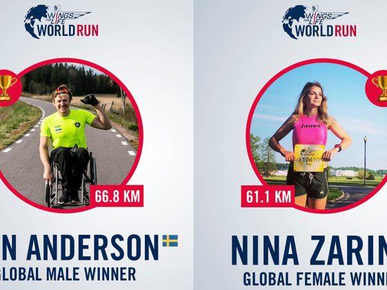Οι νικητές του Wings for Life World Run