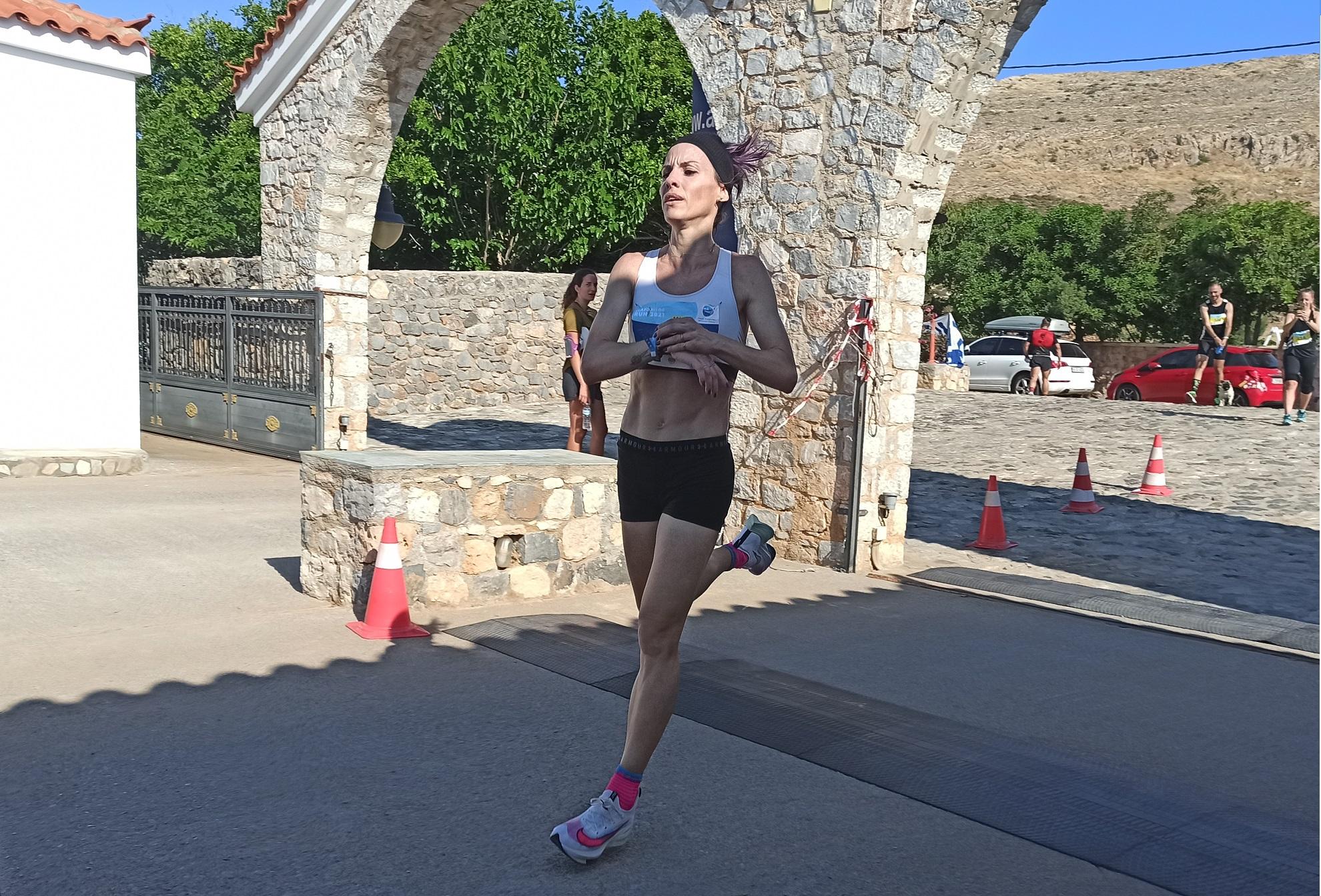 Εξαιρετική εμφάνιση η Κατερίνα Ασημακοπούλου στο Elafonisos Run
