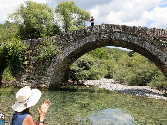 Γέφυρα στο Zagori Mountain Running
