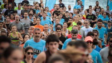 Spetses mini marathon τρέξιμο