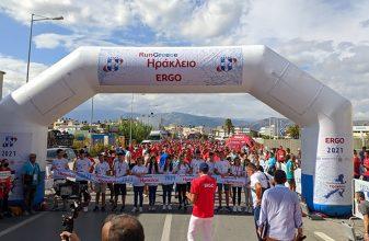 """84χρονος """"πρωτάρης"""" τερμάτισε στο RUN Greece Ηρακλείου"""